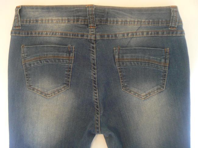 SPECIAL A Jens Stretch Wshed 5 Pockets Size 9 Boot Cut Jeans-Dark Rinse