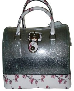 Luxcessories Satchel in SILVER and FLORAL