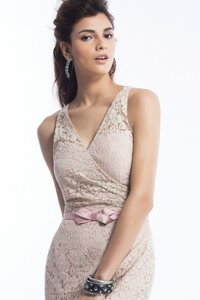 Jasmine Pink Lace P1560 Casual Bridesmaid/Mob Dress Size 8 (M)