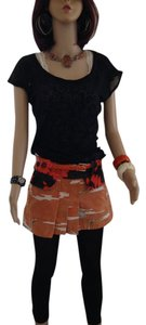 Custo Barcelona Mini Skirt Multi orange
