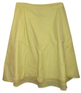 Old Navy A-line Cotton Skirt Yellow