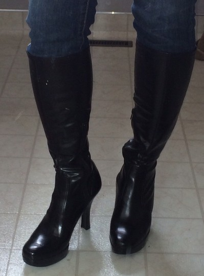 Guess By Marciano Stretchy Platform Black Boots