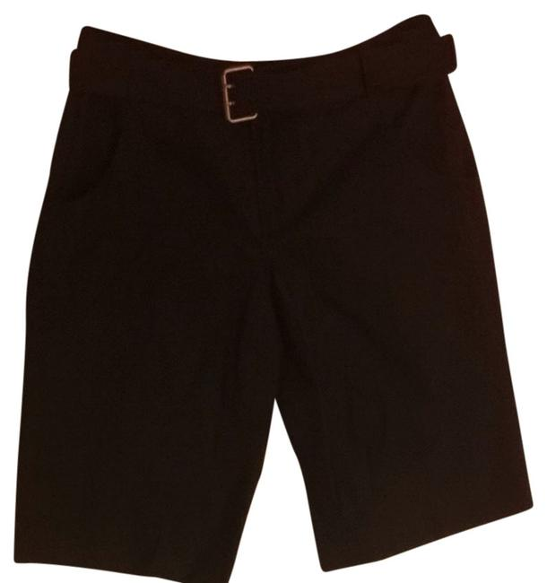 Club Monaco Bermuda Boyfriend S High End Luxe 30 0 Belt Removable Belt Shorts Black