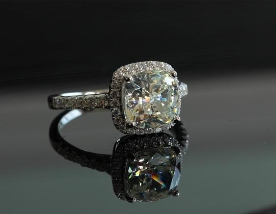 All Sizes Vvs1 3ct Cushion Cut 4 5 6 7 Sona Nscd Diamond Proposal Cushion Square Pt950 Engagement Rings