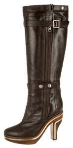 Jil Sander Knee Riding Brown Boots
