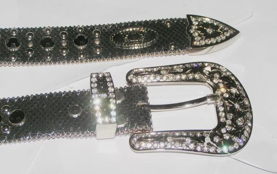 Other Silver Western Leather Bling Pistol Belt Free Shipping