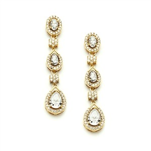Breathtaking Cubic Zirconia Bridal Earrings