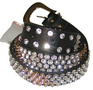 Full Bling Rhinestone Leather Belt free shipping
