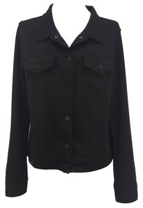 T by Alexander Wang Biker Motorcycle Black Womens Jean Jacket