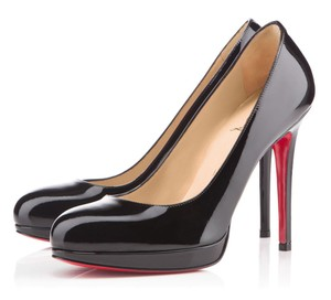 Christian Louboutin Patent Leather Italy 39 8.5 Platform New Simple 120mm Black Pumps