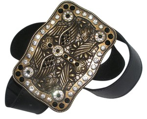 Winged Cross Bling Western Leather Belt Free Shipping