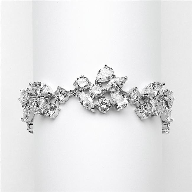Item - Silver/Rhodium A A A Crystal Couture Bracelet