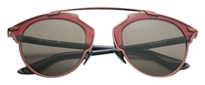 Dior So Real 48mm Mirrored Sunglasses Burgandy