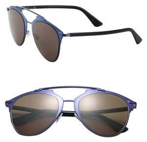 Dior Dior Reflected 52MM Mirror Aviator Sunglasses Blue Black/Bronze Lenses