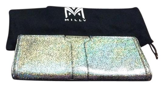 MILLY metallic silver Clutch