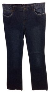 Daisy Fuentes Boot Cut Jeans-Dark Rinse