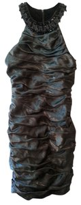 R & M Richards Knee Length Sheath Beaded Dress