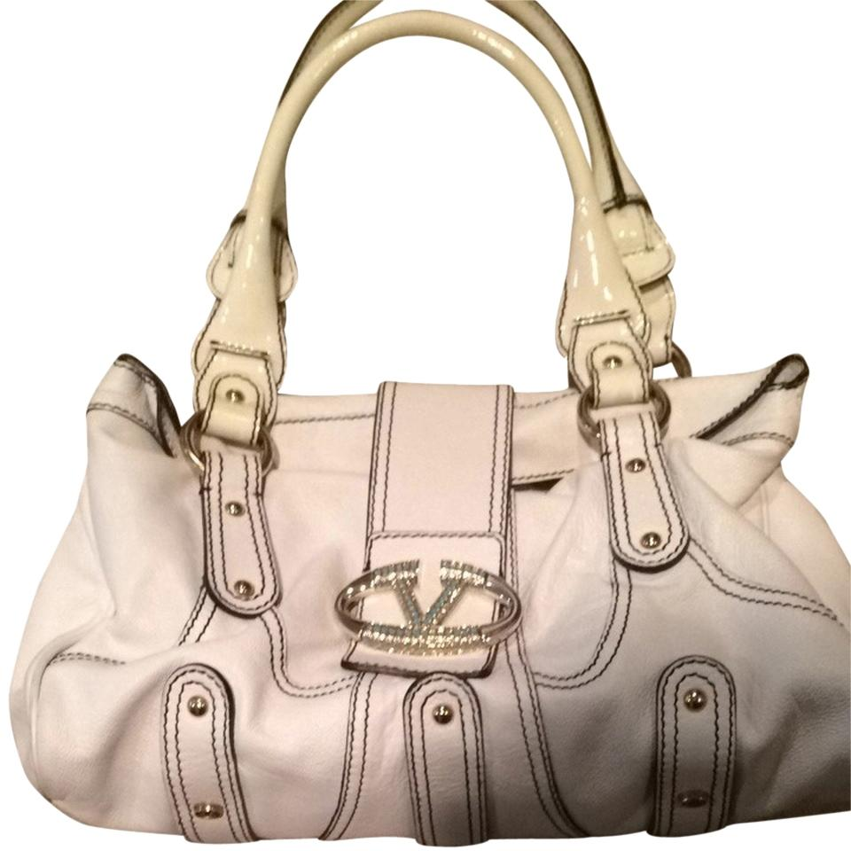White White White Satchel Leather Valentino Satchel Valentino Leather Satchel Leather Valentino wXgdqT86