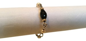 David Yurman DY SS CHAIN LINK BRACELET WITH ONYX PEARL AND 18K YG ACCENTS