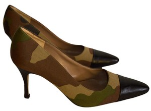 Jet Set greens / brown / black Pumps
