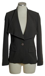 Max Mara One-button Lined Long Sleeve Brown Blazer