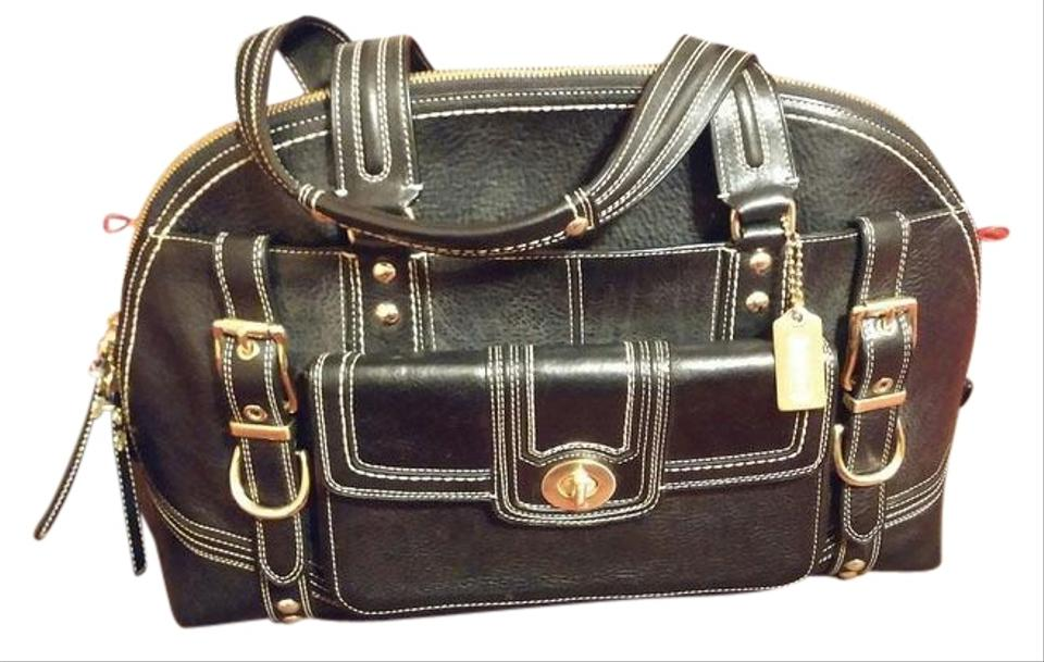 9403f1014 Coach Vintage Leather Limited Edition Satchel in Black Image 0 ...