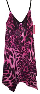 Betsey Johnson short dress Hot pink cheetah Night Lingerie New With Tag Sleepwear Intimate on Tradesy
