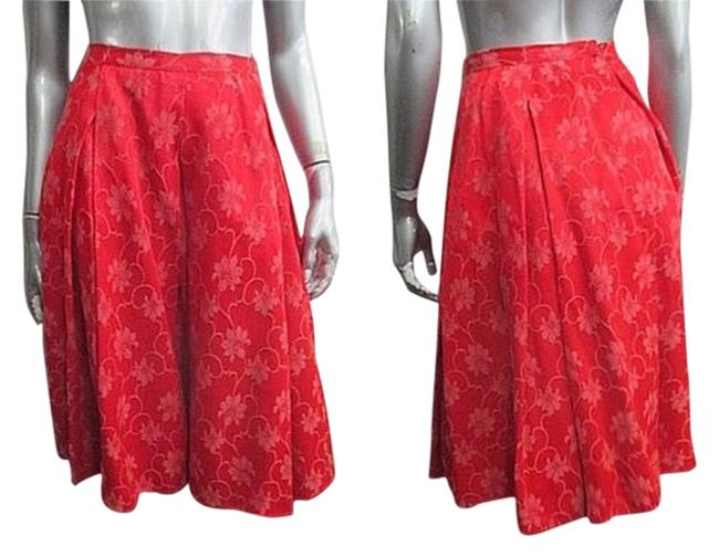 Preload https://item5.tradesy.com/images/bergdorf-goodman-vintage-cherry-red-1950s-floral-pleated-size-00-xxs-24-5619949-0-0.jpg?width=400&height=650