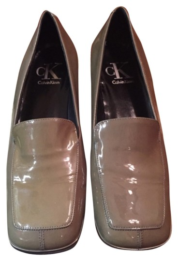 Calvin Klein Patent Leather Green Flats