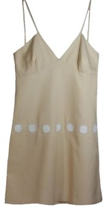 Tocca short dress Beige White Cotton Strappy on Tradesy