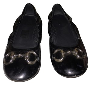 Gucci Little Girls' Size 13 Black/ Black/ patent leather Flats