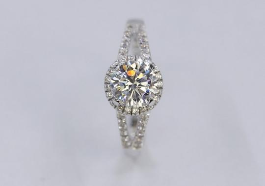 4.5 5 6 7 8 Size 2ct Halo Round Band Diamond Engagement Halo Round Band Proposal New Certified Nscd Ring