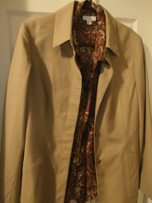 Nordstrom Wool Topstitching Detail Office/work Attire beige Blazer
