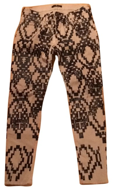 7 For All Mankind Limited Edition Symetrical Pattern Coated Straight Leg Jeans