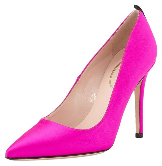 SJP by Sarah Jessica Parker Fawn Heel Heels Classic Raso Satin Size 9.5 39.5 Italy Luxury Celebrity Pink Pumps