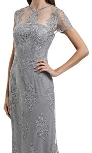 JS Collections Silver Beautiful Gown Dress