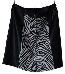 Vakko Skirt black white