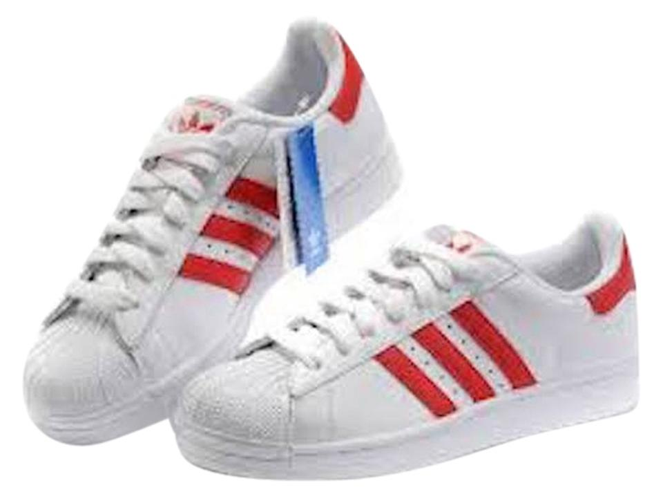new style 7c263 9d879 adidas New Men Superstar 2 White and Red Sneakers Size US 11.5 38% off  retail