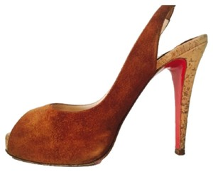 Christian Louboutin Cognac Pumps