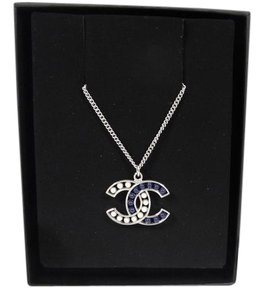 Chanel BNWT CHANEL 15S DOUBLE CC NECKLACE BLUE LAPIS AND WHITE PEARL