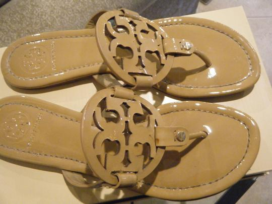 90e1ded50e0 Tory Burch  miller  Nude Patent Leather Sandals Size US 9 Regular (M ...