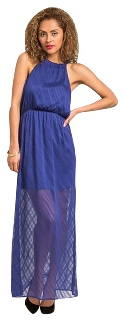 Blue Maxi Dress by Everly Maxi Small Audrysboutique Halter Bow
