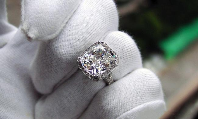 4.5 5 6 7 8 All Size 8ct Huge Cushion Band Diamond Engagement Cushion Band Proposal New Certified Ring 4.5 5 6 7 8 All Size 8ct Huge Cushion Band Diamond Engagement Cushion Band Proposal New Certified Ring Image 1