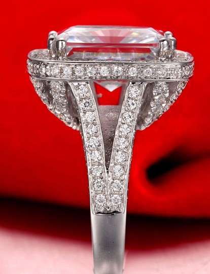 4.5 5 6 7 8 All Size 8ct Huge Cushion Band Diamond Engagement Cushion Band Proposal New Certified Ring