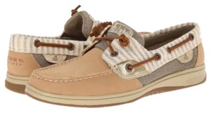 Sperry Sand/stripe - gold Flats