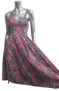 VINTAGE Multi Floral Maxi Dress by Laura Ashley