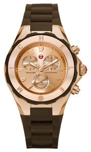 Michele NWT MICHELE JELLY BEAN ROSE GOLD / Brown Watch