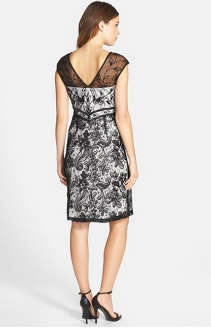 Sue Wong N5210 Embellished Illusion Yoke Mesh Sheath Dress