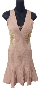 Hervé Leger Hardware Beaded Dress