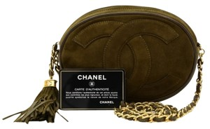 Chanel Vintage Small Suede Leather Fringe Sku : Jit219771480f Shoulder Bag